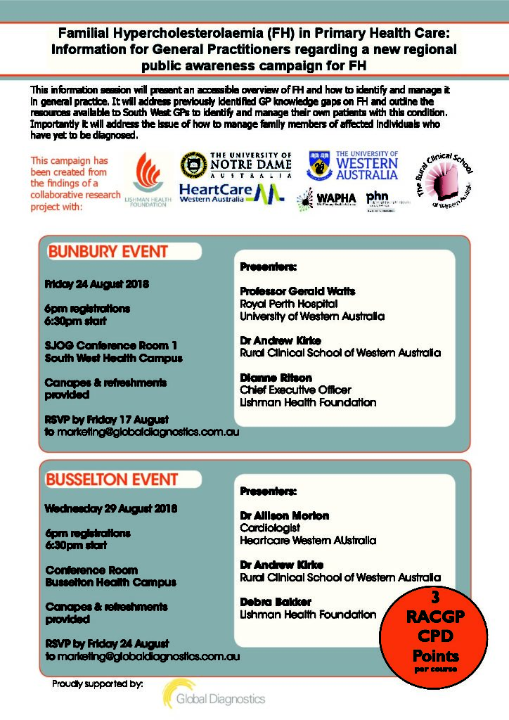 GP Information Sessions: Familial Hypercholesterolaemia in ...